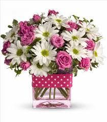 Order Flowers San Francisco - pink polka dots bouquet colma florist funeral flowers san