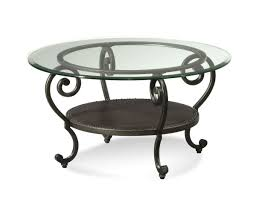 stunning round metal coffee table base with wooden and glass top