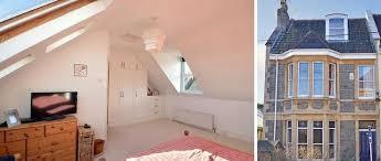 Loft Dormer Windows A Loft Conversion With A Triangle Shaped Dormer Window Interior