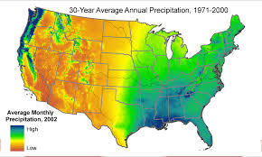 Rainfall Totals Map Winter Precipitation Averages For Each Usa State Current Results