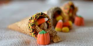thanksgiving chex mix and sugar cone cornucopias stop lookin