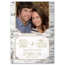 rustic save the date cards birch bark frame save the date card s bridal bargains