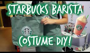 easy and quick starbucks barista costume for halloween youtube