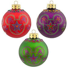 ornament set bohemian mickey mouse icons