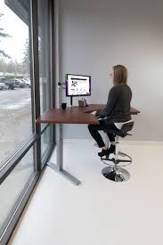 omega olympus standing desk with built in steadytype keyboard tray