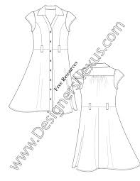 free fashion downloads illustrator dress flat sketches