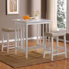 small high kitchen table tribecca home nova white 3 piece kitchen counter height dining set