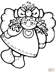 christmas angel doll coloring page free printable coloring pages