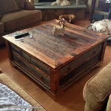 Rustic Square Coffee Table With Storage Great Reclaimed Wood Square Coffee Table 2016 Rustic Square Coffee