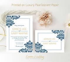 Navy Blue Wedding Invitations Blue Wedding Invitations Lemonwedding