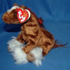 2001 ty beanie baby hoofer the clydesdale horse 10th generation