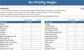 templates budget spreadsheet wedding wedding budget template