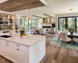 mixing cabinet colors with stone house kitchen farmhouse and round
