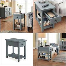 better homes and gardens furniture end table with drawer blue ebay