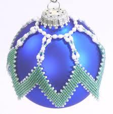 diagonal peyote ornament cover
