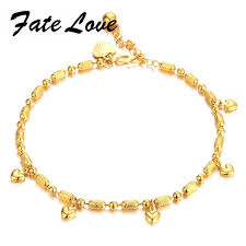 charm necklace with beads images Fate love classic charm new design gold color women girl hearts jpg