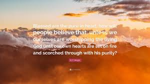 quote pure heart n t wright quote u201cblessed are the pure in heart how will