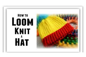loom knit hat for beginners step by step all sizes make brim