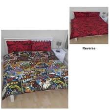 Marvel Double Duvet Cover Marvel Comic Avengers Age Of Ultron Hero Single Double Bed Duvet