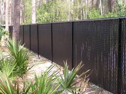 garden fences ideas decorating how chain link fence slats beautify your garden fence