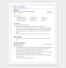 Environmental Engineer Resume Civil Engineer Resume Template 5 Samples For Word Pdf Format