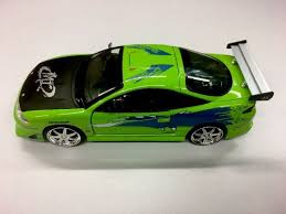 mitsubishi eclipse fast and furious jada fast and furious brian s mitsubishi eclipse 1 24 green diecast