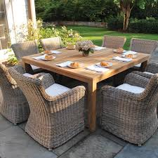 Patio Dining Table Set - patio tables rectangular patio tables vifah wood patio tables