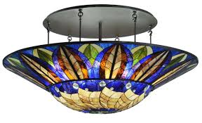 stained glass light fixtures home depot lights tiffany style flush ceiling light largelighting quoizel