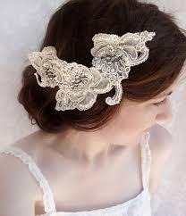 luxury hair accessories lace wedding hair accessories rhinestone embellished hairpiece