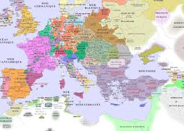 Map Of Medieval Europe Argentoratum Strasbourg