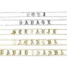 Engraved Name Necklace Personalized Name Necklace Kim Kardashian Saint Choker