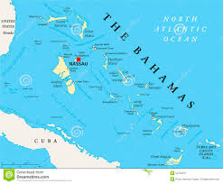 Bahamas World Map The Bahamas Political Map Stock Photo Image 52752167