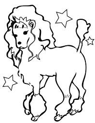 funny deer poodle costume coloring free printable