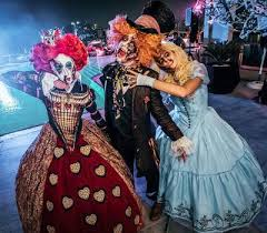 hire halloween themed alice wonderland walkabout characters