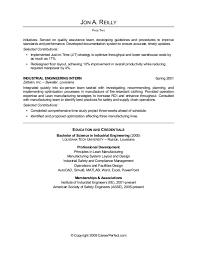 Software Engineer Resume Objective Examples by Industrial Engineer Sample Resume Gallery Creawizard Com