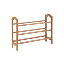 honey can do 9 pair 3 tier bamboo shoe rack sho 01601 the home depot