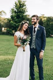 wedding groom outdoor australian wedding with rue de seine gown white bm dress
