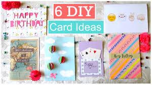 diy 6 easy greeting card ideas youtube