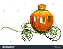 cinderella pumpkin carriage cinderella fairy tale pumpkin carriage isolated stock illustration