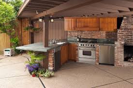 outdoor kitchen designs for small spaces outdoor brick kitchen