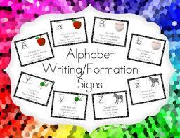 alphabet writing formation signs u0026 free frame u2022 turn learn