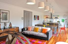 Living Room Pendant Lighting by Drum Pendant Lighting In Living Room Eclectic With Kitchen Curtain