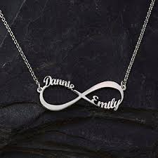 personalized sterling name necklace images Personalized infinity name necklace 925 sterling silver two name jpg