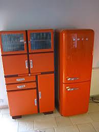 meuble cuisine retro meuble de cuisine vintage orange design rétro déco et mobilier