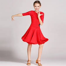 aliexpress com buy red latin dress for girls dance costume for