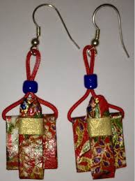 origami earrings japanese traditional costume origami earrings