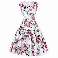 aliexpress buy size 7 10 vintage retro cool men casual women dress summer 50s 60s retro vintage dresses floral