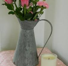 Metal Jug Vase Rustic Metal Chartwell Lipped Flower Jug Vase 14 99 Farm And