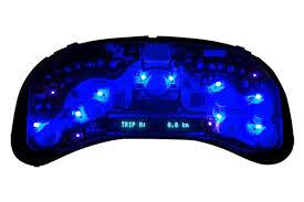 us speedo cube360b surface mount speedometer blue led bulbs