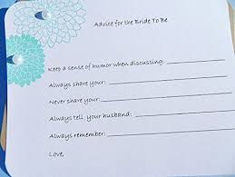 wedding wish cards buy bridal shower advice cards wedding shower advice tags